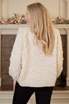 Gather Together Balloon Sleeve Cardigan : Cream