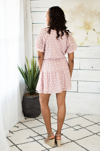 Spring in Bloom Chiffon Dress : Blush