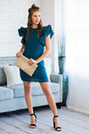 Lavish Lifestyle Sheath Dress : Teal