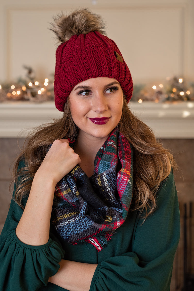 Snuggle Up Infinity Scarf : Red,Black,Light Blue,Green