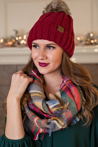 Snuggle Up Infinity Scarf : Red,Camel, Light Blue, Green