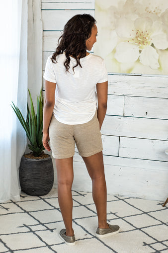 Coastal Casual French Terry Shorts : Taupe