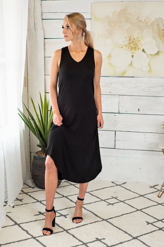 Every Day Fun Tank Dress : Black