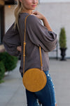 Naomi Circle Shoulder Bag : Mustard
