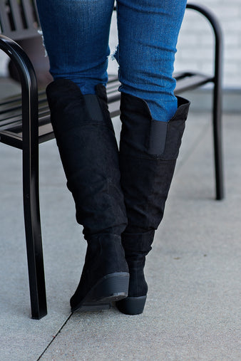 Tall Story Over The Knee Boots : Black