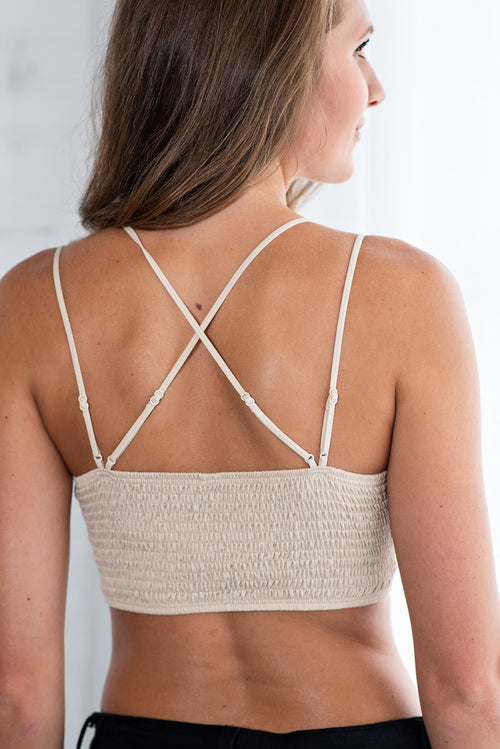 Lace And Luxury Padded Bralette: Natural
