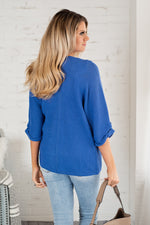 Now Or Never Light Weight Cardigan : Cobalt Blue