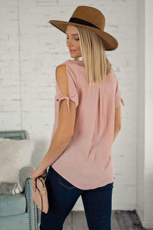 Hand In Hand Short Sleeve Top : Pink Rose
