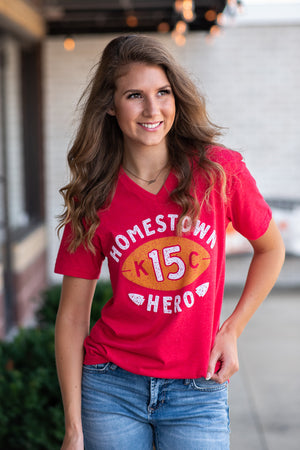 Flint & Field Homestown Hero Short Sleeve Shirt : Red