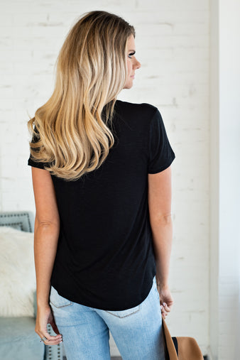 The Sunday Afternoon Slouchy Tee : Black