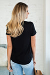 Everyday Feels Short Sleeve Top : Black