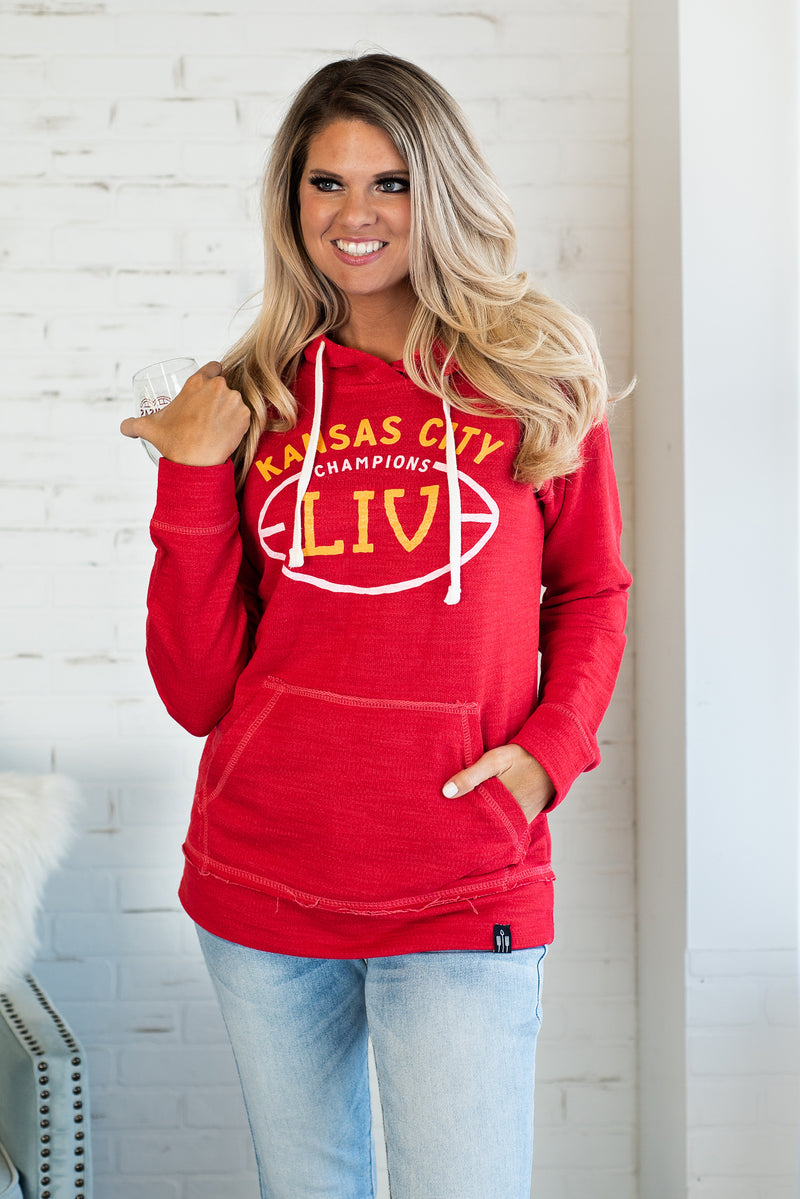 KC Champions LIV Hoodie : Red