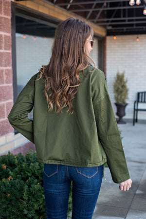 Fall Fireside Utility Jacket : Olive