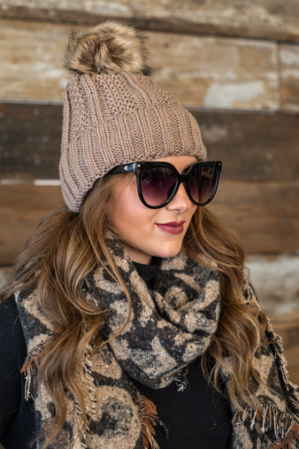 Cozy Love Leopard Scarf : Black/Brown