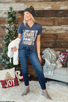 I Just Like to Smile (Elf) Tee : Heathered Navy