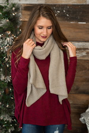 Savy In The City Scarf : Taupe