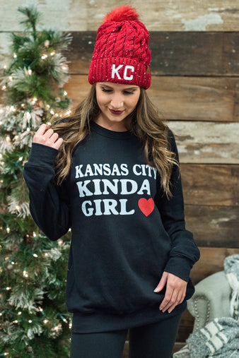 Kansas City Kinda Girl Sweatshirt : Black