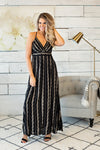Escape To Happy Maxi Dress : Black