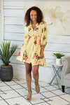 This Beautiful Feeling Floral Dress: Yellow Floral