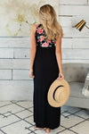 Nothing Left To Say Floral Maxi Dress : Black