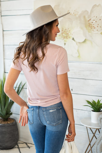 It's A Beautiful Day T-shirt: Dusty Pink