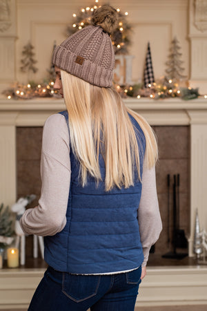 Mountain Valley Reversible Vest : Navy
