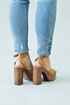 Louise Cross Strap Heel : Camel