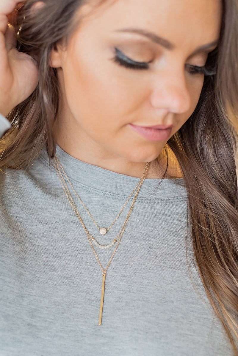 Madison Triple Layer Necklace : Gold