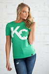 Flint & Field KC Shamrock Tee : Green