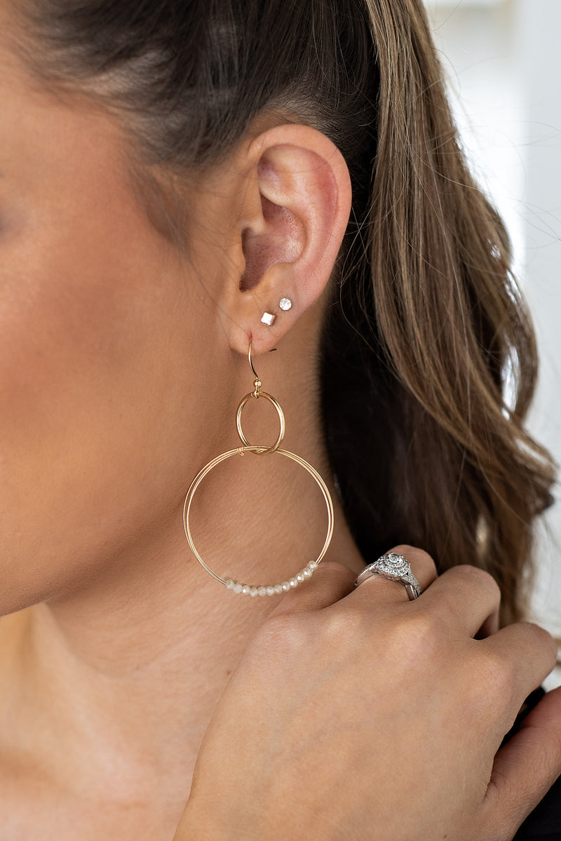 Emery Wire Wrapped Hoop Earrings : Nat