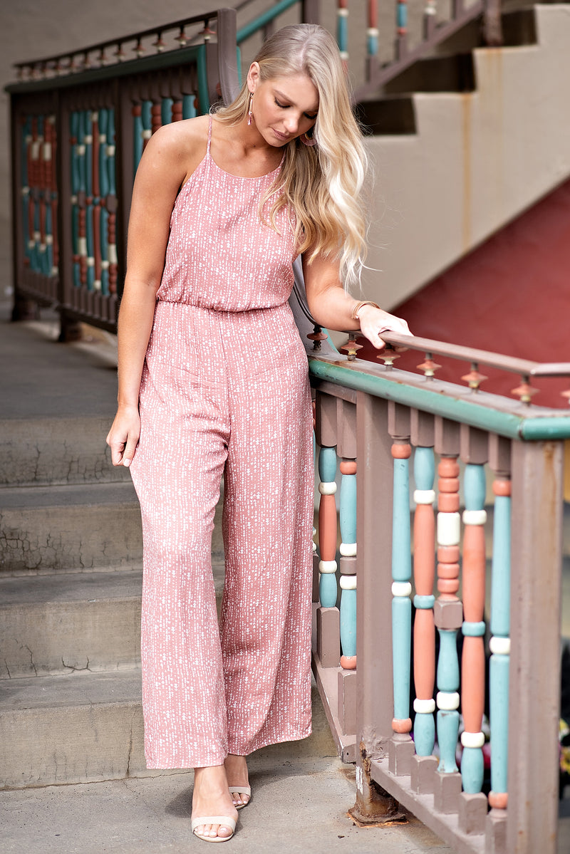 Round Trip Ticket Jumpsuit : Mauve