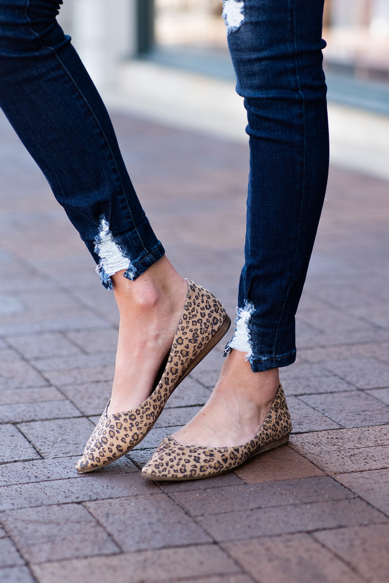 Dreamlike Leopard Ballet Flats : Honey