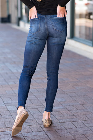 Kancan Gemma Super Skinny Distressed Jeans : Dark