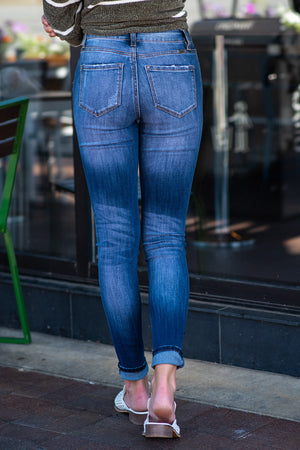 KanCan High Rise Curvy Fit Jeans : Dark Wash