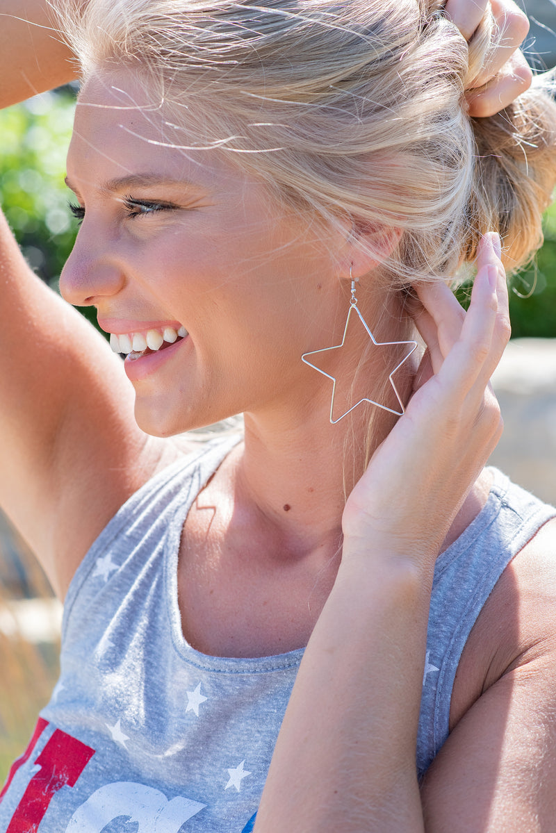 You're My Star Open Earring : Silver