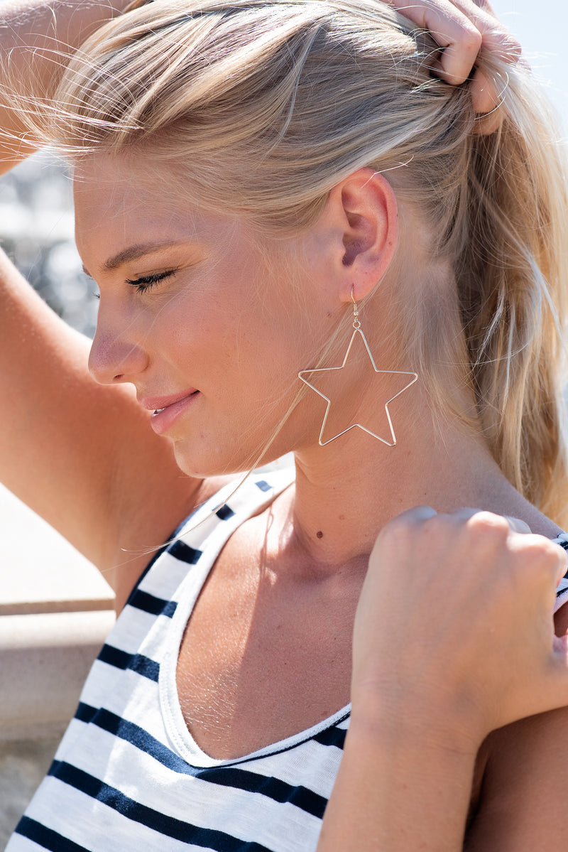 You're My Star Open Earring : Gold