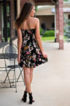 So It Goes Strapless Tie Dress : Black