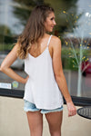 Be Royal Sleeveless Cami Top : Light Grey