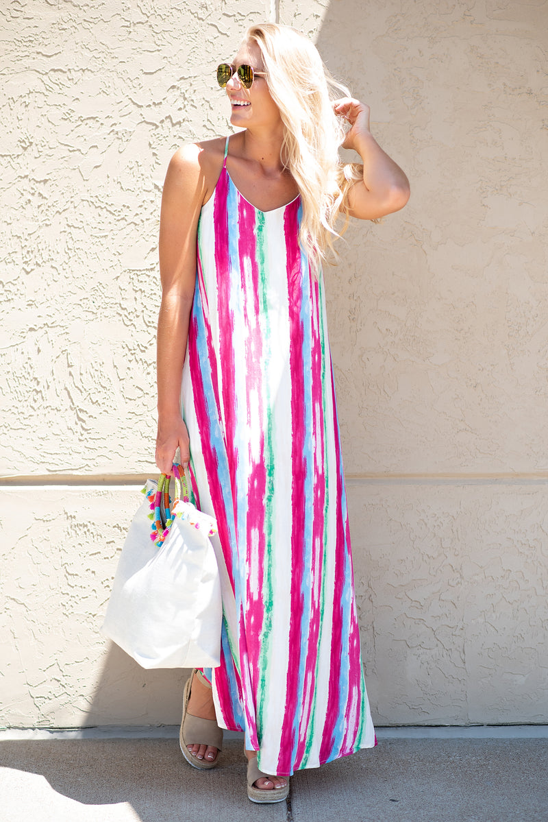 Splash of Summer Maxi Dress: Multi