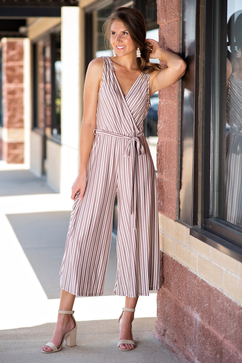 Against The Grain Jumpsuit : Mocha