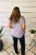 Its A New Day Surplice Tee : Gray Lilac