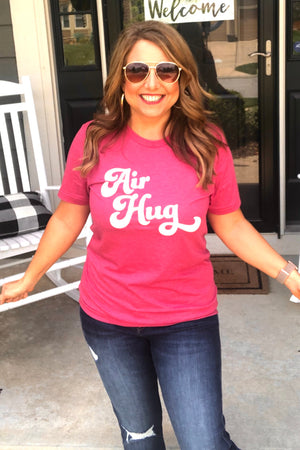 Air Hug Retro Tee : Raspberry Pink