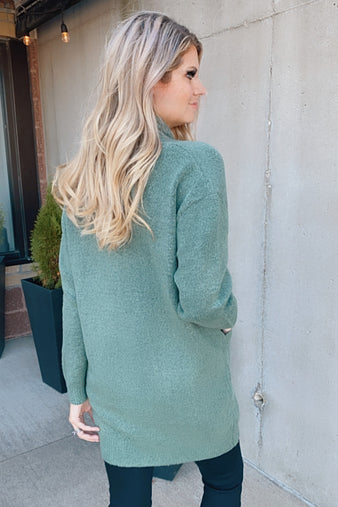 Noticing You Knit Pocket Cardigan : Dusty Green