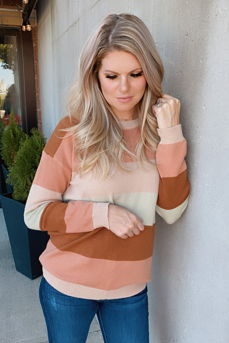 Worthy Of You Color Block Sweater : Multi