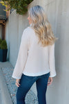 Change Of Scenery Soft Cowl Neck Bell Sleeve Sweater : Cream