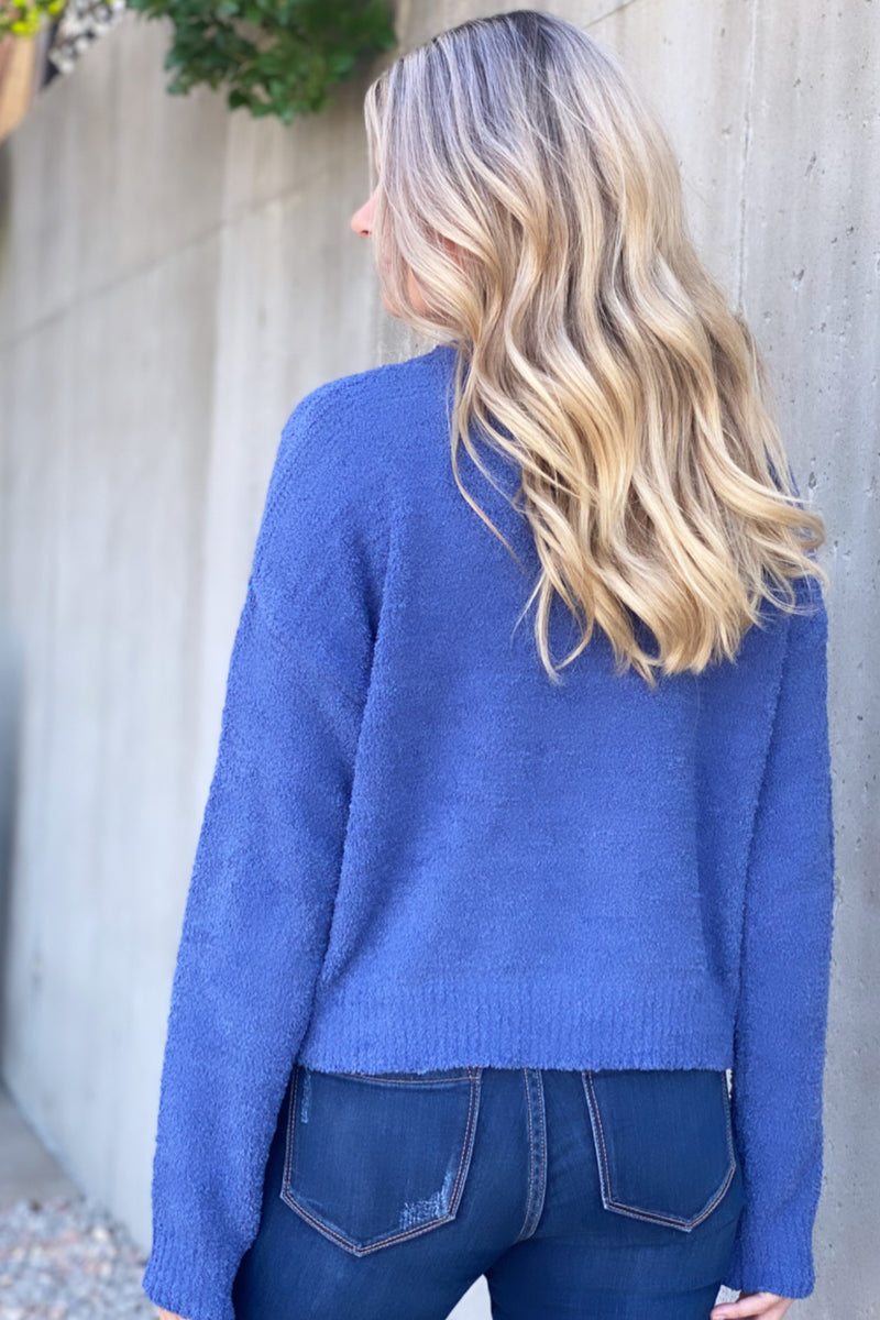 Basically Dreaming Fuzzy Sweater : Indigo