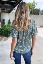 The Fresh Air Drop Shoulder Top : Olive/Ivory