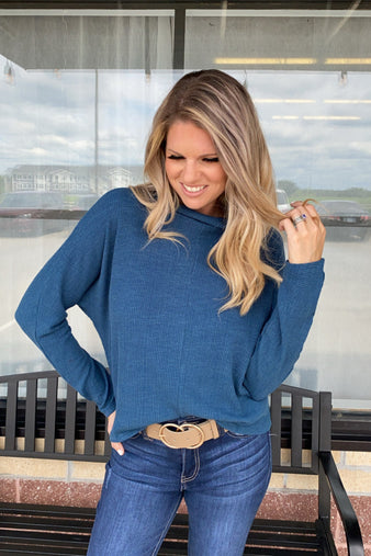 Just Another Reason Dolman Sleeve Top : Teal