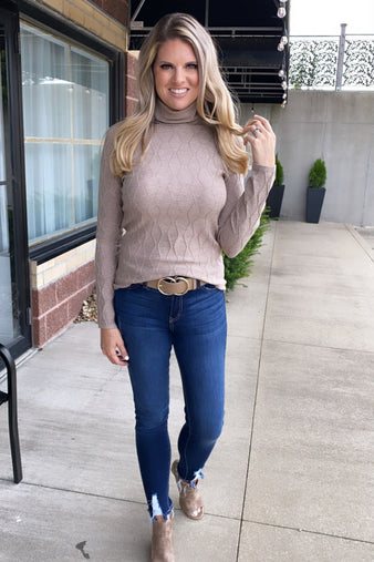 Always An Adventure Sweater : Taupe