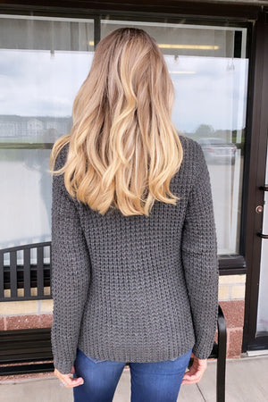 Out Of The Woods Turtle Neck Pullover : Charcoal